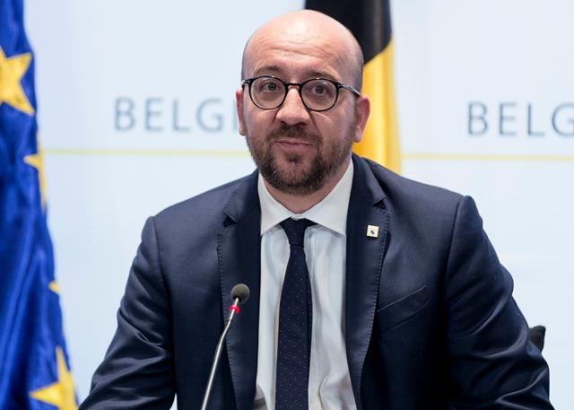 Na snímke belgický premiér Charles Michel