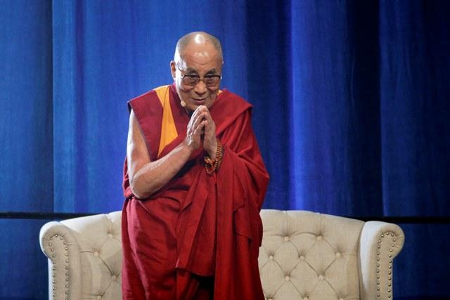 Na snímke tibetský duchovný vodca dalajláma