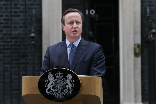 Na snímke britský premiér premiér David Cameron