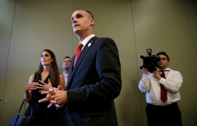 Na snímke manažér kampane prezidentského kandidáta Donalda Trumpa Corey Lewandowski