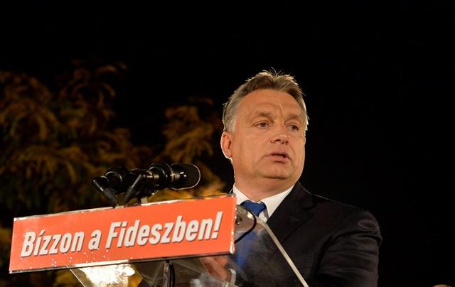 Na snímke maďarský premiér a líder strany Fidesz Viktor Orban