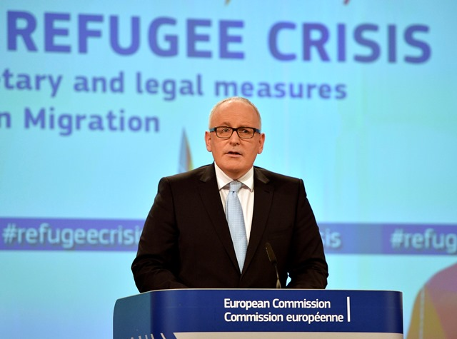 Na snímke prvý podpredseda Európskej komisie Frans Timmermans