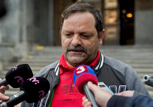 Na snímke líder Strany rómskej únie na Slovensku (SRÚS) František Tanko