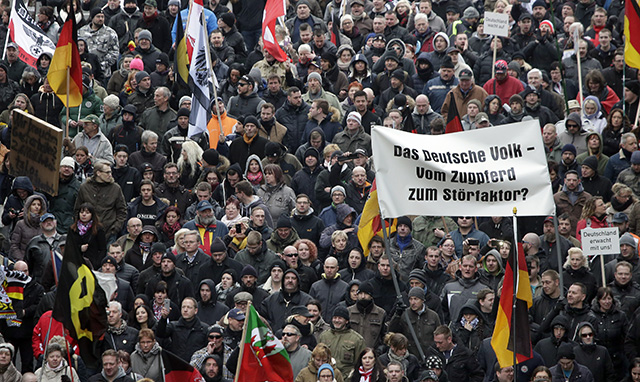 Germany Refugees Protest