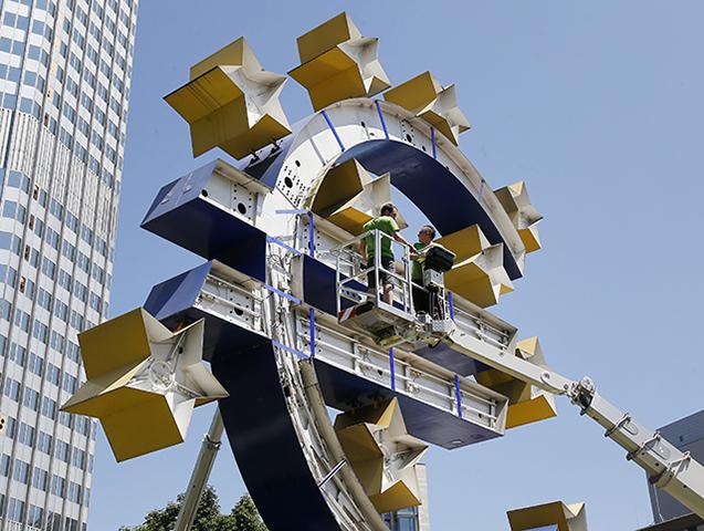Nemecko Grécko ECB Logo Euro Oprava