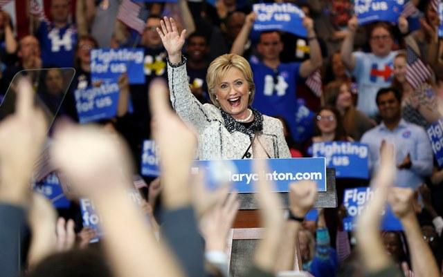 Na snímke demokratická americká prezidentská kandidátka Hillary Clintonová