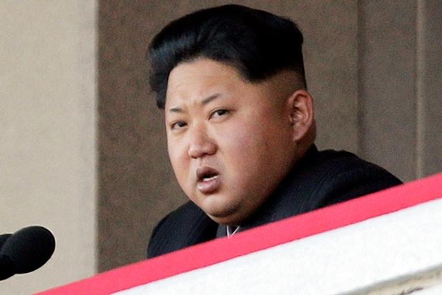 Na snímke Kim Čong-un