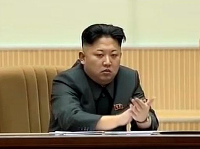 Na videosnímke severokórejský líder Kim Čong-un