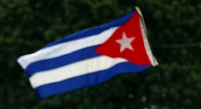 Na snímke vlajka Kuby