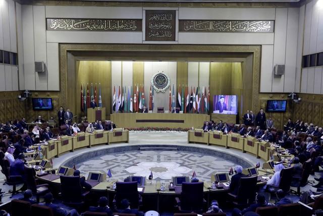 Na snímke zasadanie členov Ligy arabských štátov
