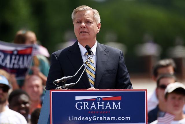 Na snímke Lindsey Graham