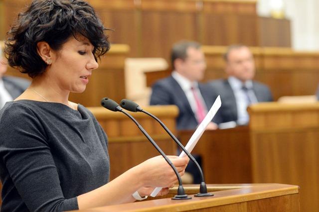 Na snímke podpredsedníčka NRSR Lucia Nicholsonová