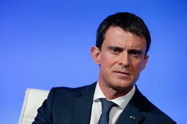 Na snímke francúzsky minister vnútra Manuel Valls