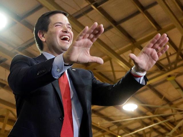 Na snímke americký republikánsky kandidát Marco Rubio