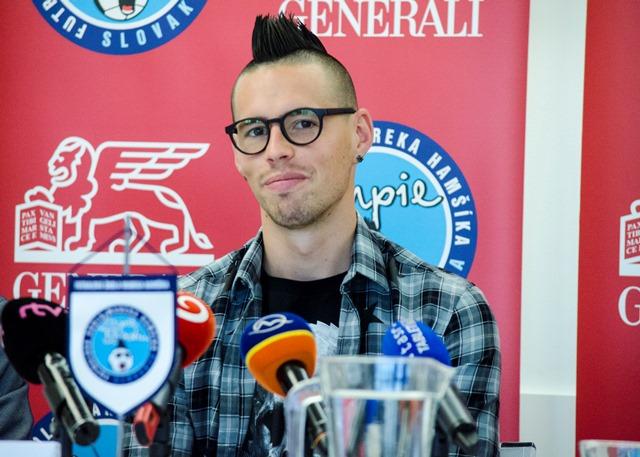 Na snímke slovenský futbalový reprezentant a stredopoliar talianskeho klubu SSC Neapol Marek Hamšík