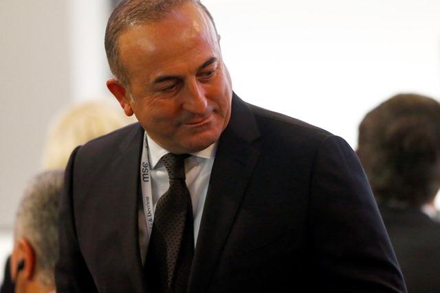 Na snímke turecký minister zahraničných vecí Mevlut Čavušoglu