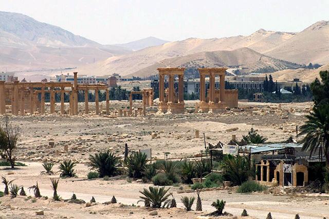Staroveke sýrske mesto z čias Rímskej ríše Palmýra. Ilustračné foto