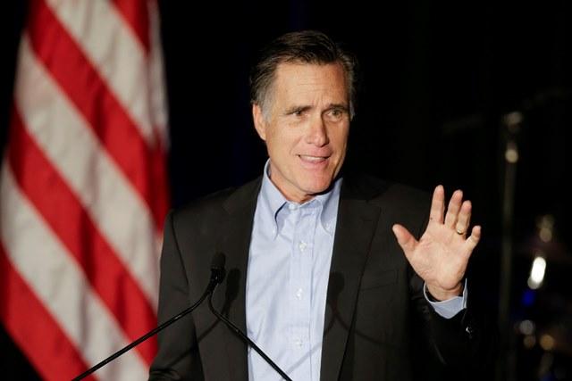 Na snímke  bývalý kandidát na amerického prezidenta Mitt Romney