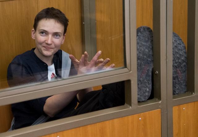 Na snímke ukrajinská pilotka Nadija Savčenková
