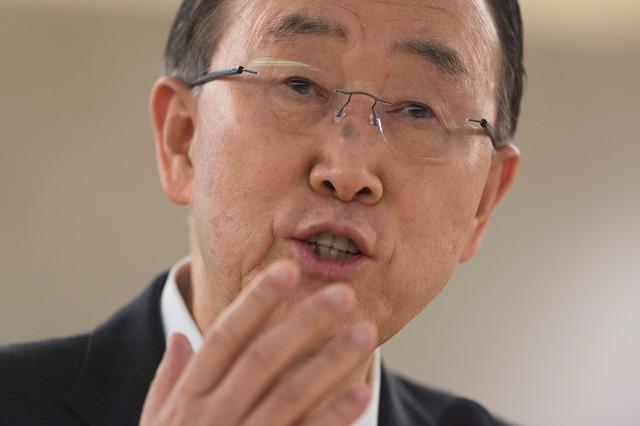 Na snímke generálny tajomník OSN Pan Ki Mun