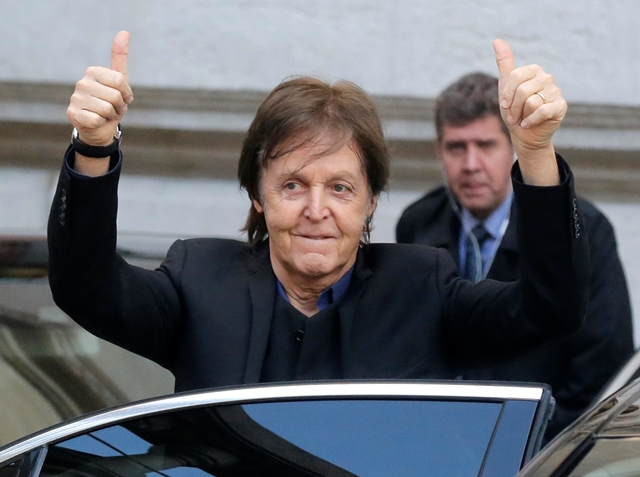 Na snímke Sir Paul McCartney