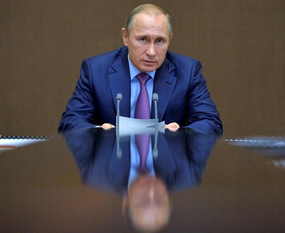 Na snímke ruský prezident Vladimir Putin