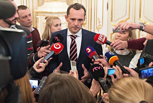 Na snímke líder strany #Sieť Radoslav Procházka