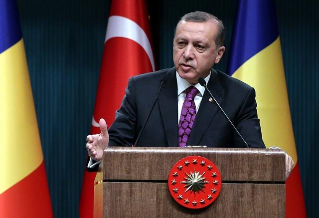 Na snímke prezident Turecka Recep Tayyip Erdogan