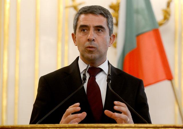 Na snímke bulharský prezident Rosen Plevneliev
