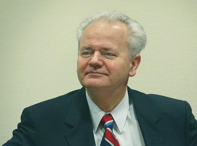 Na snímke Slobodana Miloševič