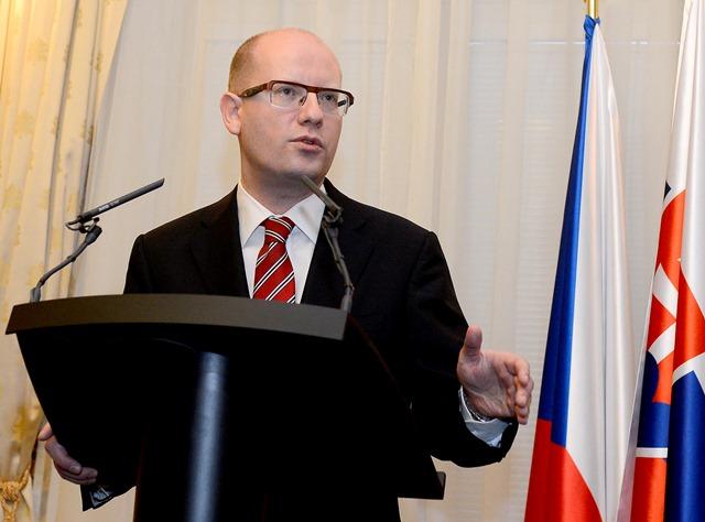 Na snímke premiér ČR Bohuslav Sobotka