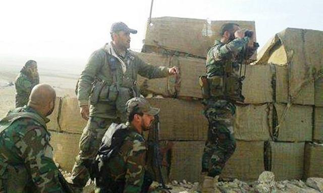 Snímka z bojov v Sýrii