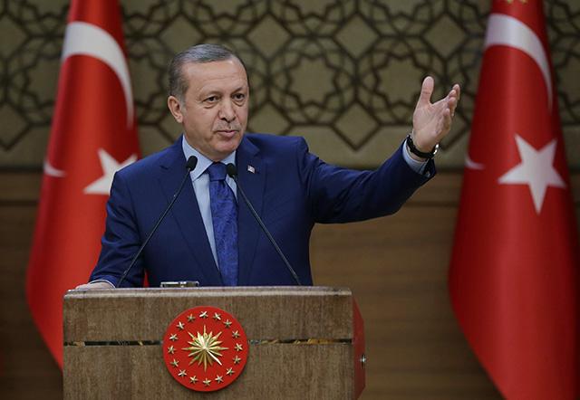 Na snímke turecký prezident Recep Tayyip Erdogan