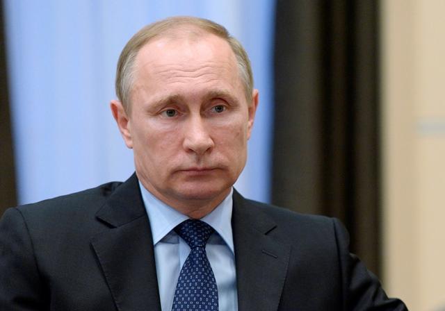 Na snímke ruský prezident Vladimír Putin