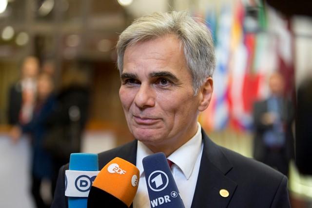 Na snímke rakúsky kancelár Werner Faymann