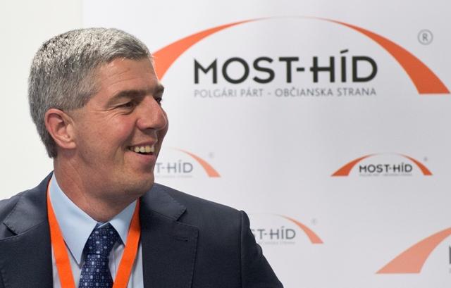 Na snímke predseda politickej strany Most-Híd Béla Bugár