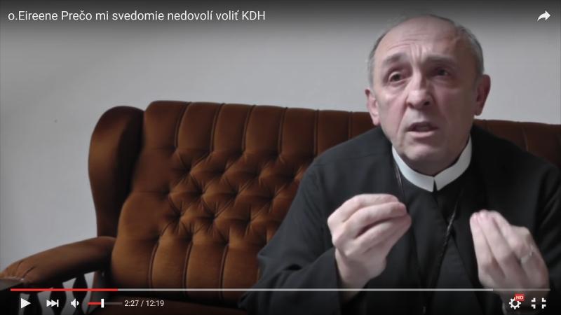 Na snímke jeden z kňazov, ktorý pravdepodobne volil ĽSNS