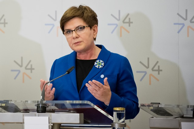 Na snímke predsedníčka vlády Poľska Beata Szydlová