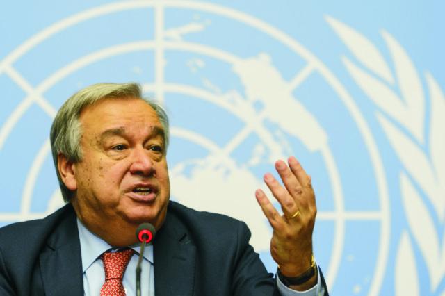 Na archívnej snímke António Guterres