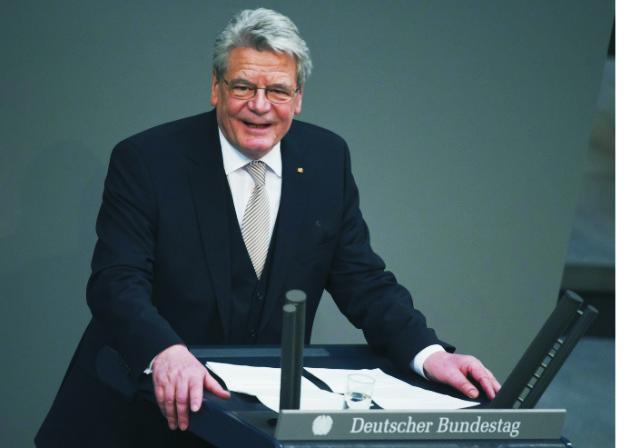 Na archívnej snímke Joachim Gauck