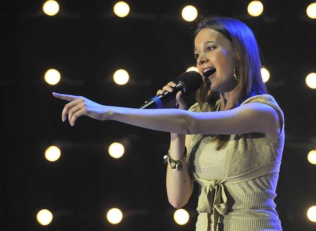 Na snímke speváčka Kristína