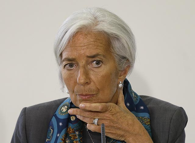 Na snímke šéfka Medzinárodného menového fondu (MMF) Christine Lagardová