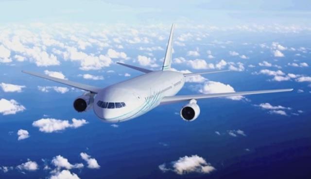 Na snímke z videa nové ruské širokotrupé dopravné lietadlo Fregat Ecojet