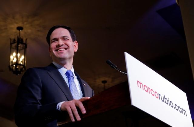 Na snímke americký republikánsky senátor Marco Rubio