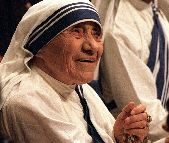 Na archívnej snímke z 25. augusta 1993 Matka Tereza