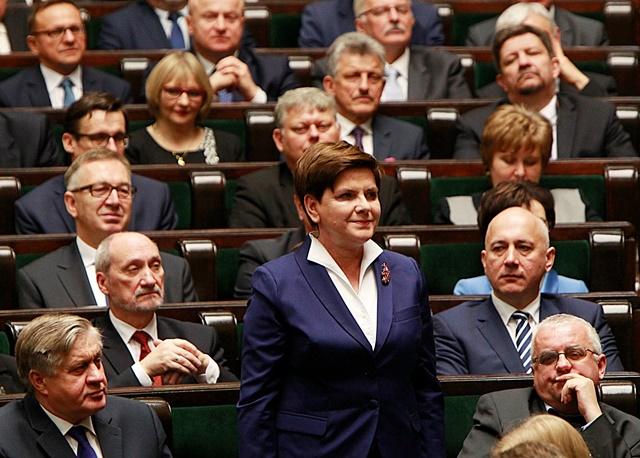 Na snímke premiérka poľskej vlády Beata Szydlová