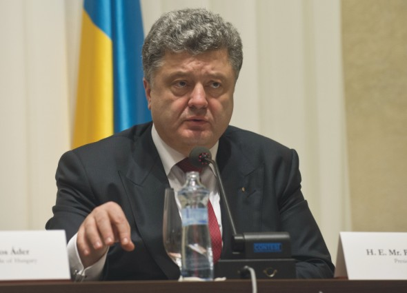 Na snímke Petro Porošenko