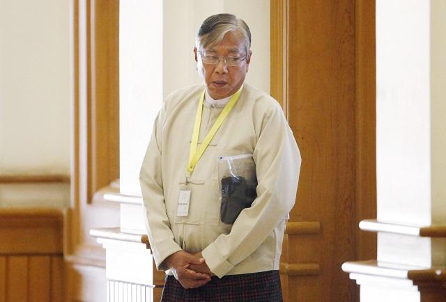 Novozvolený mjanmarský prezident Tchin Ťjo