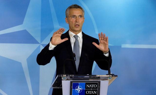 Na snímke šéf NATO Jens Stoltenberg