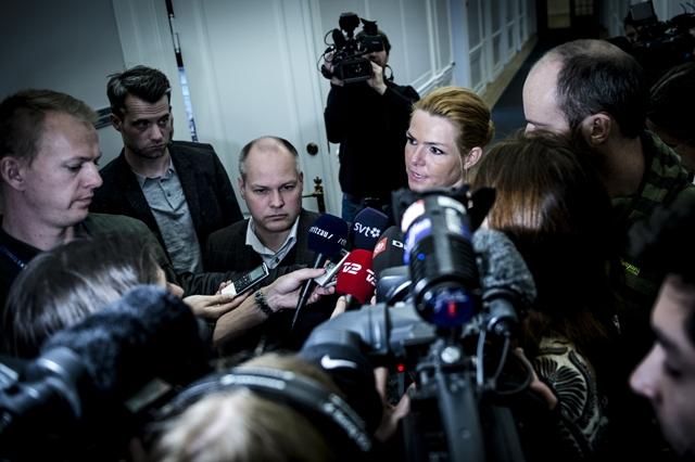 Na snímke dánska ministerka pre otázky imigrácie Inger Stöjbergová